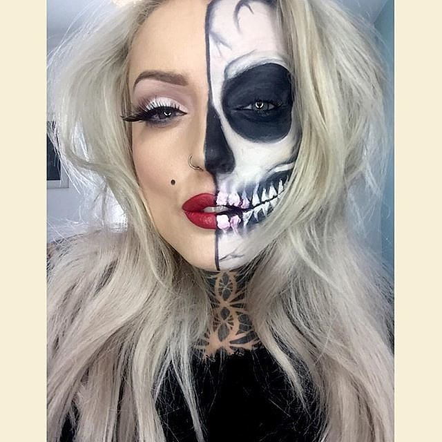 11 Terrifyingly Cool Skeleton Makeup Ideas to Try For Halloween