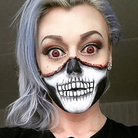 11 terrifyingly cool skeleton makeup ideas for halloween. Black Bedroom Furniture Sets. Home Design Ideas