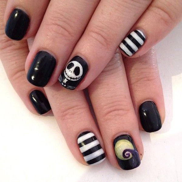 20 Halloween Nail Art Designs & Ideas